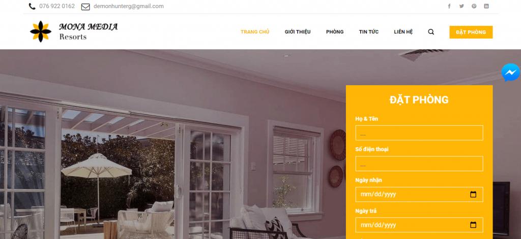 Thiết kế web 3D cho ngành khách sạn