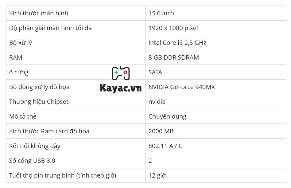 Chi tiết cấu hình laptop cho lập trình Acer Aspire 15