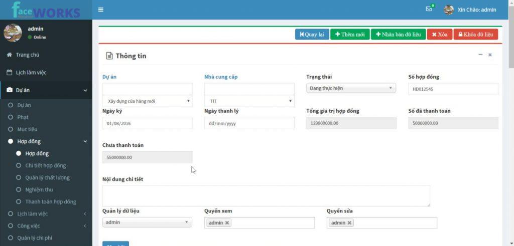 phần mềm quản lý điểm danh Faceworks